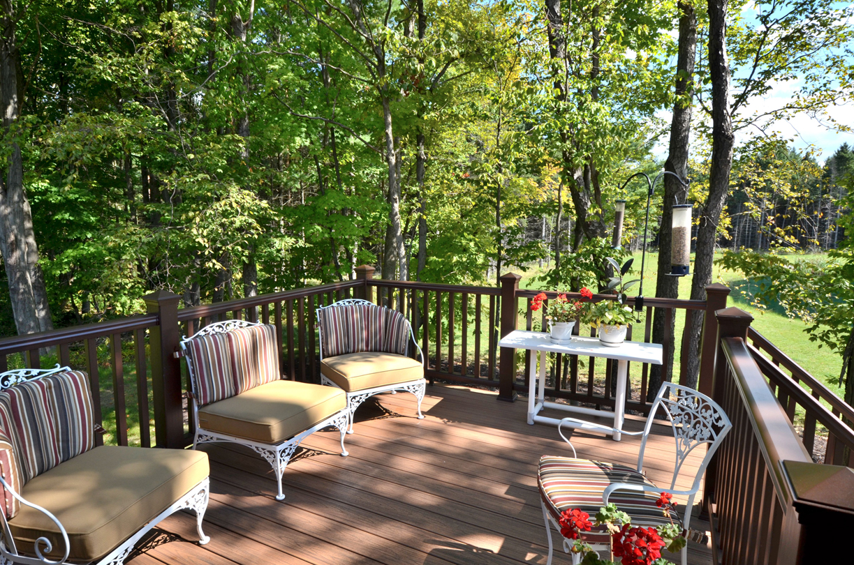Deck and surrounding woods