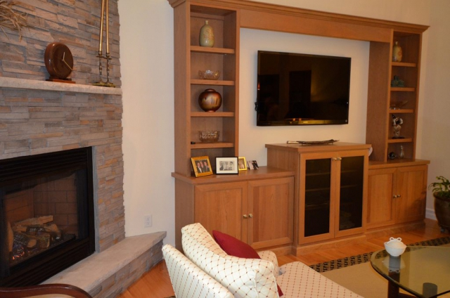 Great-Room Fireplace and Built-ins