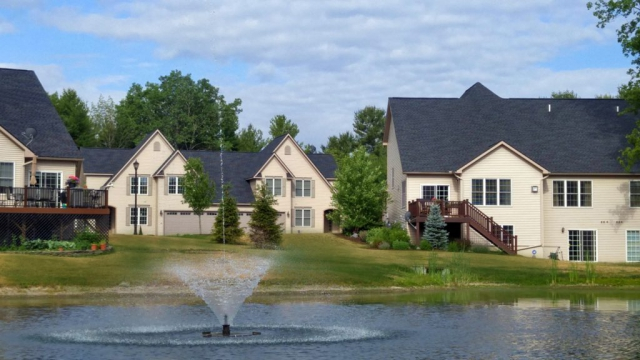 Townhomes and Fountain