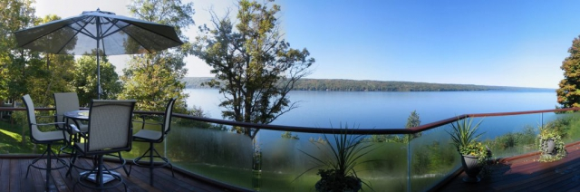 Deck view of the lake